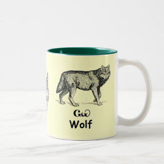 Young Cherokee Wolf Two-Tone Coffee Mug