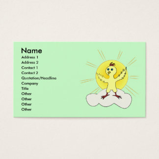 Young chick standing on a cloud business card