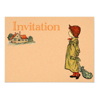 Young Child In A Raincoat Card