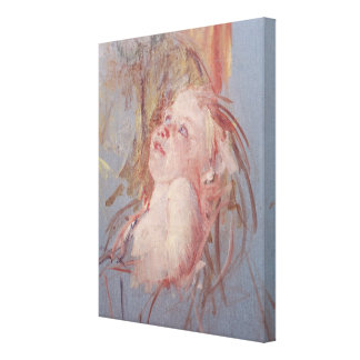 Young Child in its Mother's Arms Gallery Wrap Canvas
