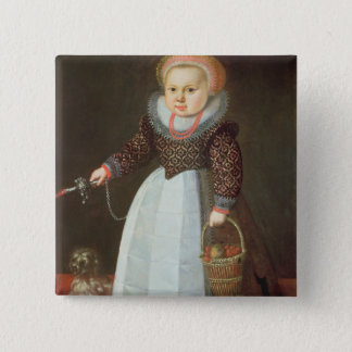 Young Child with a Dog Pinback Button