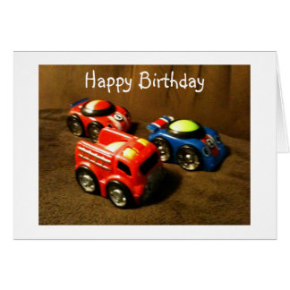 YOUNG CHILD'S BIRTHDAY - RACING CAR GREETING CARD