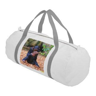 young chimpanzee 03 gym duffel bag