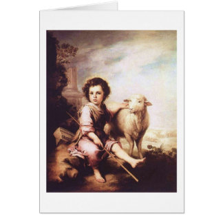Young Christ as the good shepherd circa 1660 Greeting Cards