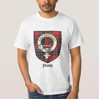 Young Clan Badge / Clan Crest / Tartan T-Shirt