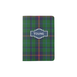 Young Clan Plaid Personalized Passport Holder