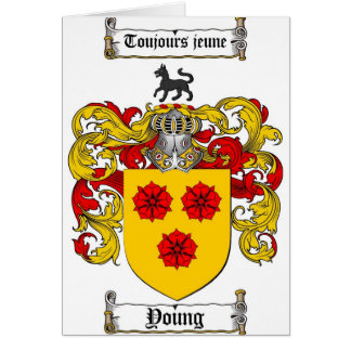 Young Coat of Arms / Young Family Crest Card