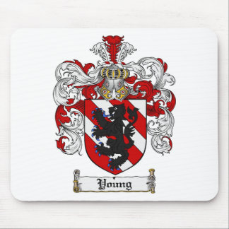 Young Coat of Arms Young Family Crest Mouse Pad
