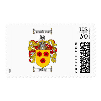 Young Coat of Arms / Young Family Crest Postage
