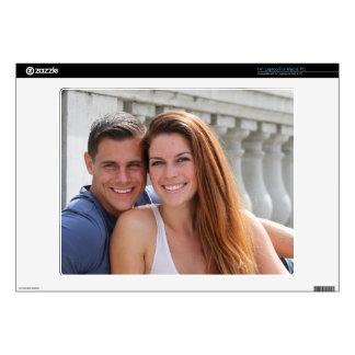 Young Couple Bridge Laptop Skins