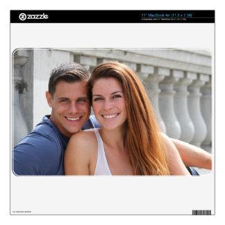 Young Couple Bridge Skin For MacBook