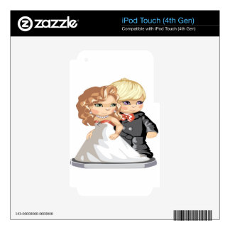 Young couple dressed for wedding iPod touch 4G decal