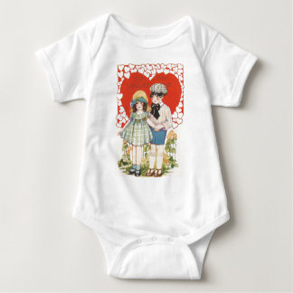 Young Couple Heart Hearts Daisy Infant Creeper