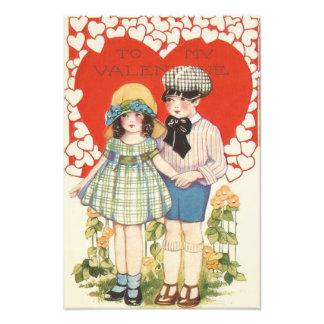 Young Couple Heart Hearts Daisy Photo Print