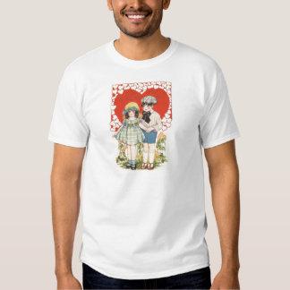 Young Couple Heart Hearts Daisy Shirt