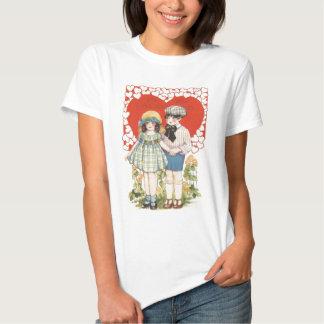 Young Couple Heart Hearts Daisy T Shirt