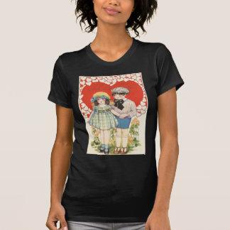 Young Couple Heart Hearts Daisy Tee Shirt