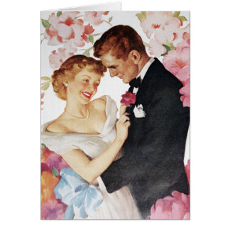 Young couple in formal wear card