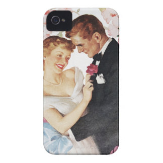 Young couple in formal wear iPhone 4 Case-Mate case