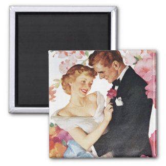 Young couple in formal wear magnet