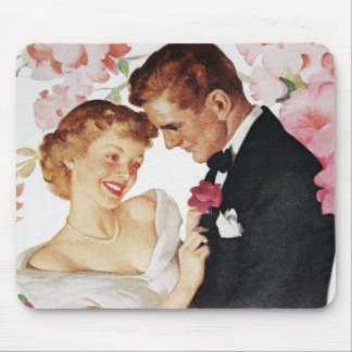Young couple in formal wear mouse pad