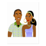 Young Couple in Love Postcard