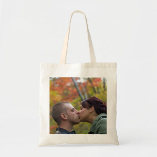 Young Couple Kissing Canvas Bag