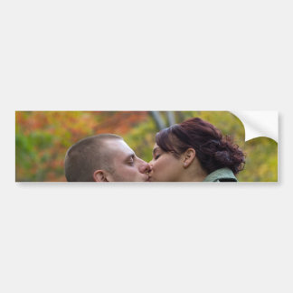 Young Couple Kissing Bumper Sticker