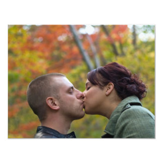Young Couple Kissing Card