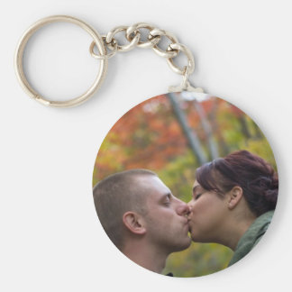 Young Couple Kissing Keychain