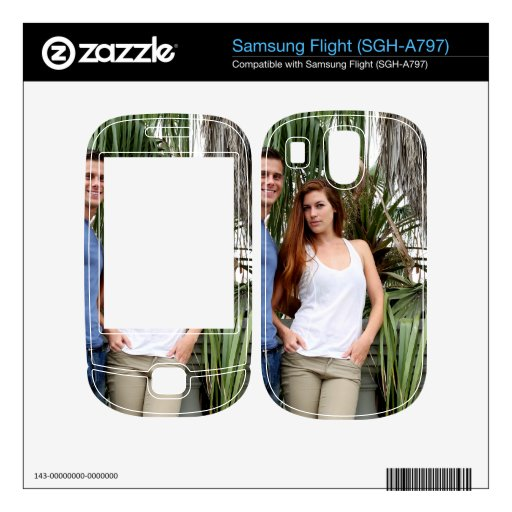 Young Couple Palm Tree Decals For Samsung Flight