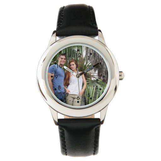Young Couple Palm Tree Wristwatches