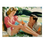 Young couples post cards