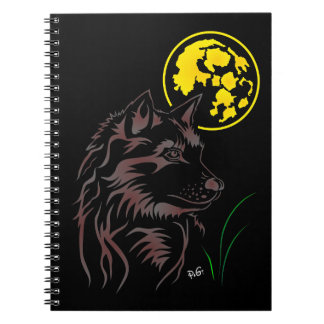 young dreaming wolf note booklet notebook