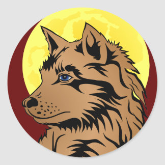 young dreaming wolf sticker