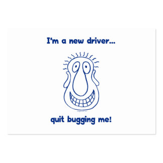 Young Driver Bug Off Large Business Cards (Pack Of 100)