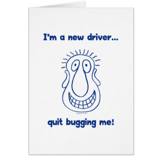 Young Driver Bug Off Card