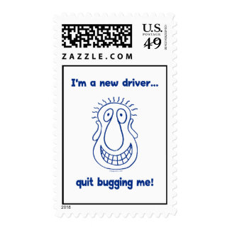 Young Driver Bug Off Postage