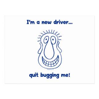 Young Driver Bug Off Postcard