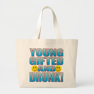 Young Drunk Life B Large Tote Bag