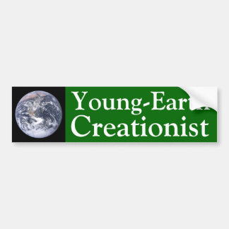 Young-Earth Creationist Bumper Sticker