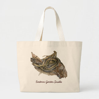 Young Eastern Garter Snake Coordinating Items Large Tote Bag