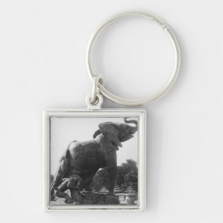 Young Elephant caught in a trap Keychain