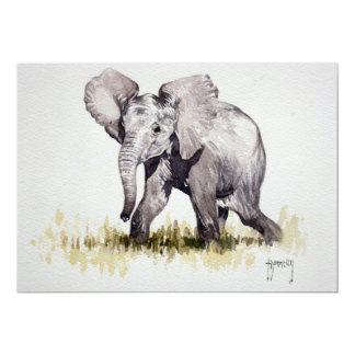 Young Elephant Invitation