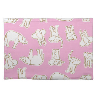 Young Elephants in Pink Placemat
