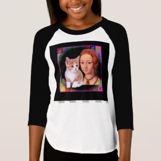 Young Elizabeth I and Kitten T-Shirt