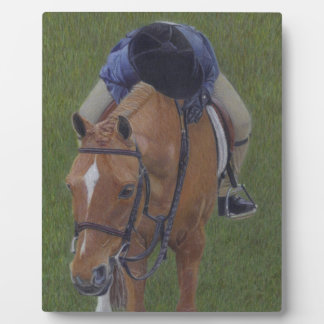 Young Equestrian Rider and Pony Photo Plaques