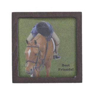 Young Equestrian Rider and Pony Premium Keepsake Boxes