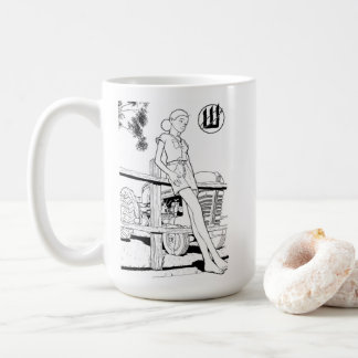 Young Eve and the Tractor Coffee Mug