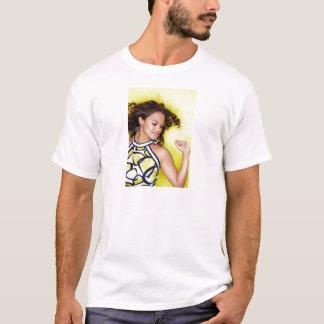Young Exotic Woman Yellow Dance T-Shirt